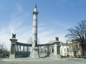 Jefferson Davis, Monument Boulevard, Richmond, Virginia, USA by Ethel Davies