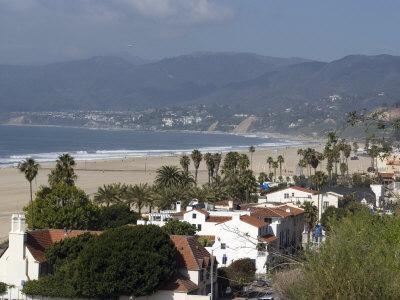 Malibu, from Palisades Park, Santa Monica, California, United States of America, North America
