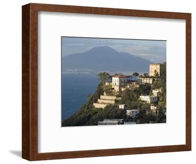 Mount Vesuvius View and Vico Equense, Near Naples, Campania, Italy, Mediterranean, Europe