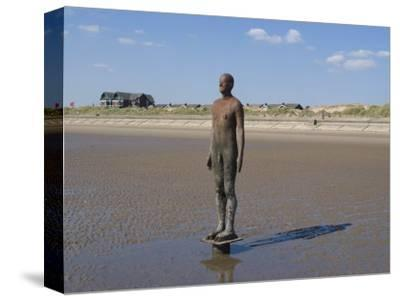 One of the 100 Men of Another Place, also known as the Iron Men, Statues by Antony Gormley
