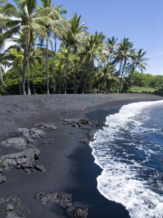 Punaluu Black Sand Beach, Island of Hawaii (Big Island), Hawaii, USA