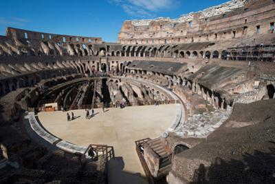 Remains of the Colosseum of Rome Built around 70Ad, Allegedly the Largest Ever Built