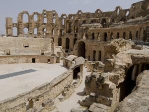 Roman Colosseum, El Jem, Unesco World Heritage Site, Tunisia, North Africa, Africa by Ethel Davies