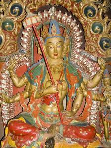 Sculpture, Kumbum, Gyantse, Tibet, China by Ethel Davies