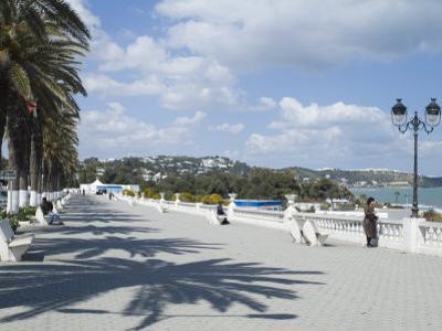 Seaside Promenade, La Marsa Resort, Near Tunis, Tunisia, North Africa, Africa