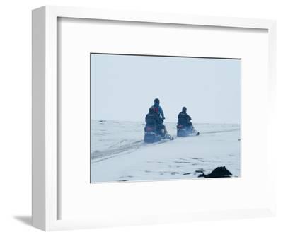 Skidooing on Langjokull Glacier, Iceland, Polar Regions