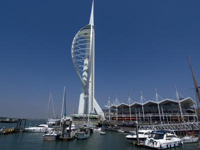 Spinnaker Tower from Gunwharf, Portsmouth, Hampshire, England, United Kingdom, Europe