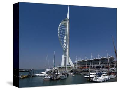 Spinnaker Tower from Gunwharf, Portsmouth, Hampshire, England, United Kingdom, Europe
