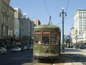 St. Charles Streetcar, New Orleans, Louisiana, USA by Ethel Davies