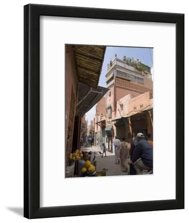 Street Scene Near the Bab Debbagh, One of Marrakech's City Gates, Marrakech, Morocco