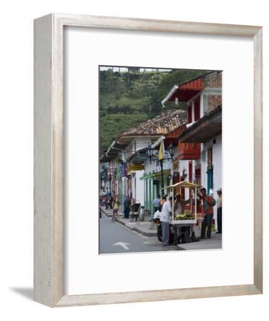 Street View of the Colonial Town of Salento, Colombia, South America