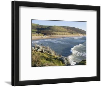 The Beach with Surfers at Woolacombe, Devon, England, United Kingdom, Europe