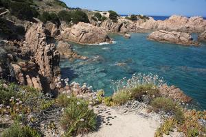 The Sea at Costa Paradiso, Sardinia, Italy, Mediterranean by Ethel Davies