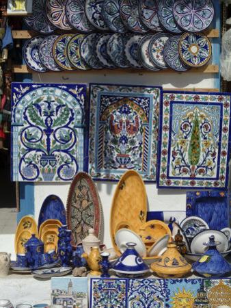 Tourist Shop, Sidi Bou Said, Near Tunis, Tunisia, North Africa, Africa