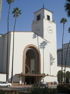 Union Station, Railroad Terminus, Downtown, Los Angeles, California, USA by Ethel Davies