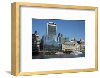View of the City of London from the South Bank, London, England, United Kingdom, Europe