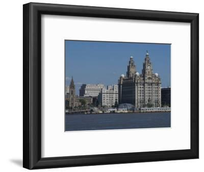 View of the Liverpool Skyline and the Liver Building, from the Mersey Ferry