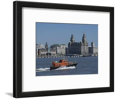 View of the Liverpool Skyline and the Liver Building, Taken from the Mersey Ferry