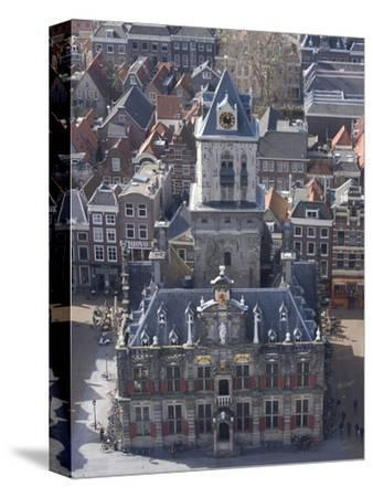 View over the City and the Stadhuis from the Viewing Platform of the Nieuwe Kerk (New Church), Delf
