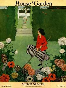House & Garden Cover - August 1916 by Ethel Franklin Betts Baines