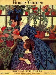 House & Garden Cover - December 1915 by Ethel Franklin Betts Baines