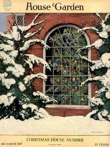 House & Garden Cover - December 1917 by Ethel Franklin Betts Baines