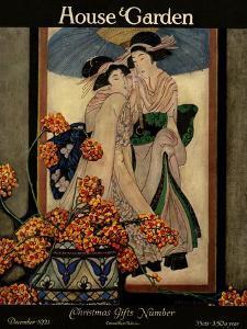 House & Garden Cover - December 1921 by Ethel Franklin Betts Baines