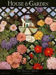 House & Garden Cover - October 1923 by Ethel Franklin Betts Baines