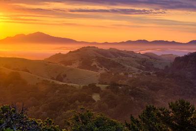 Ethereal Golden Sunrise Mount Diablo East Bay Oakland Bay Area-Vincent James-Photographic Print