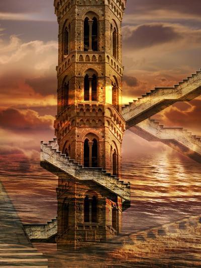 Ethereal Towers- sattva_art-Art Print