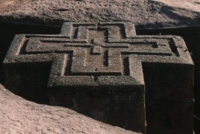 Ethiopia, Lalibela, Rock-Hewn Churches, Church of Saint George--Giclee Print