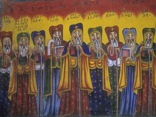 Ethiopia, Tigrai, Aksum, Painting in Monastery of Abba Pantelewon, from 6th Century--Giclee Print