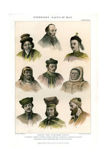 Ethnology, Races of Man, 1800-1900-R Anderson-Giclee Print