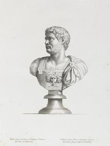 Tableau du Cabinet du Roi, statues et bustes antiques des Maisons Royales Tome II : planche 2 by Etienne Baudet