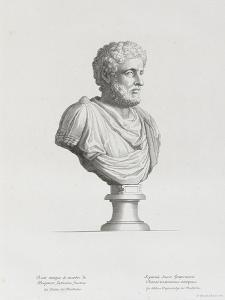 Tableau du Cabinet du Roi, statues et bustes antiques des Maisons Royales Tome II : planche 32 by Etienne Baudet