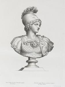 Tableau du Cabinet du Roi, statues et bustes antiques des Maisons Royales Tome II : planche 3 by Etienne Baudet