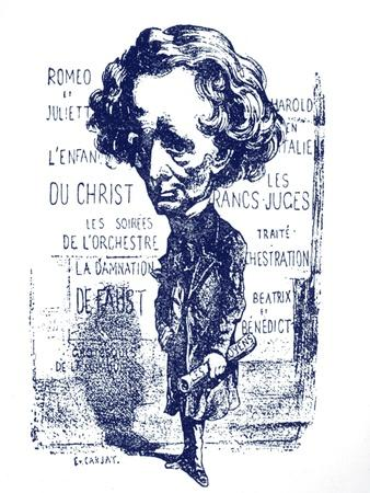 Berlioz caricature by Carjat