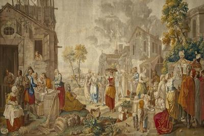 The Outdoor Market, from Village Festivals, 1775-89