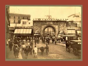 Tunis, La Porte De France, Tunisia by Etienne & Louis Antonin Neurdein
