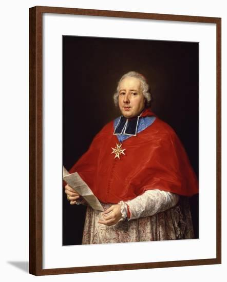 Etienne-René, Cardinal Potier De Gesvres, 1758-Pompeo Girolamo Batoni-Framed Giclee Print