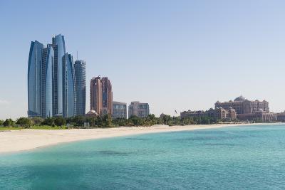 Etihad Towers, Emirates Palace Hotel and Beach, Abu Dhabi, United Arab Emirates, Middle East-Fraser Hall-Photographic Print