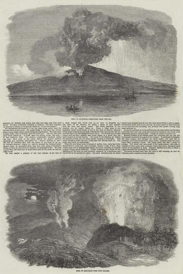 Etna in Eruption--Giclee Print