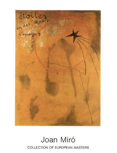 Etoiles d'Escargot, 1925-Joan Mir?-Art Print