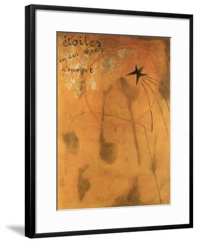 Etoiles d'Escargot, 1925-Joan Mir?-Framed Art Print