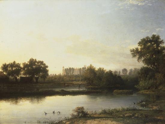 Eton from the River, 1818-Patrick Nasmyth-Giclee Print