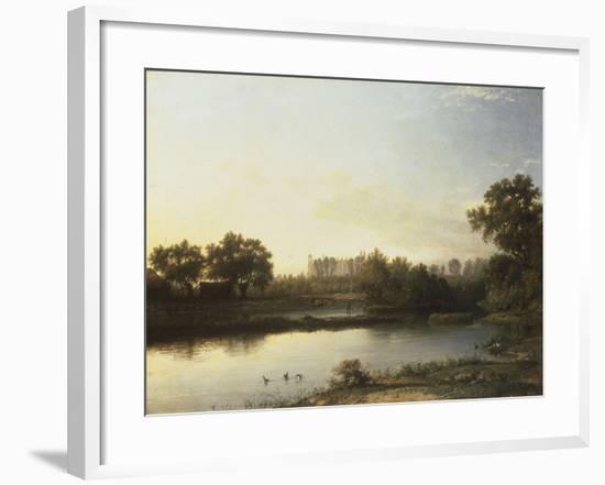 Eton from the River, 1818-Patrick Nasmyth-Framed Giclee Print