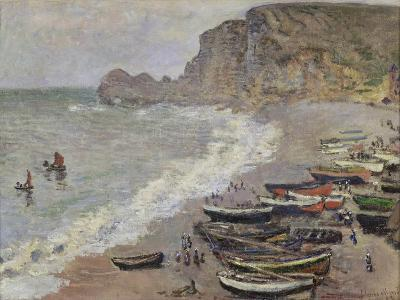 Etretat, Beach and the Porte D'Amont, 1883-Claude Monet-Giclee Print