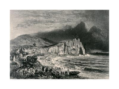 Etretat, Illustration from the Chapter on Normandy from 'La Normandie Illustree', Engraved by…-Felix Benoist-Giclee Print