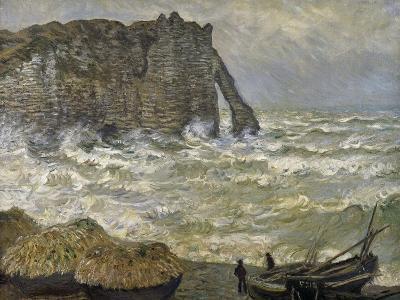 Etretat, mer agitée-Claude Monet-Giclee Print