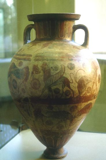 Etruscan Amphora Decorated with Mythical Beasts, C7th-6th Century Bc--Photographic Print